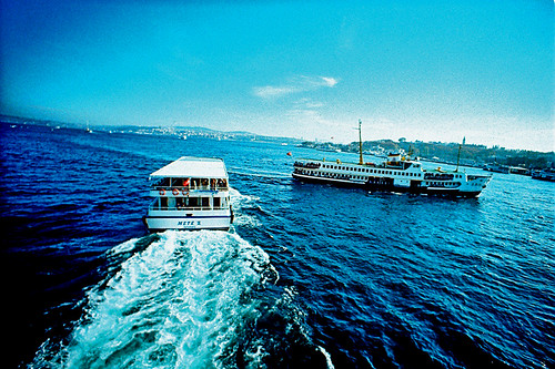 Ferry near miss