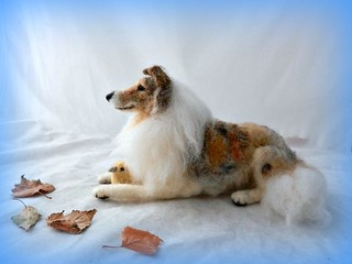 needle felted Rough Collie