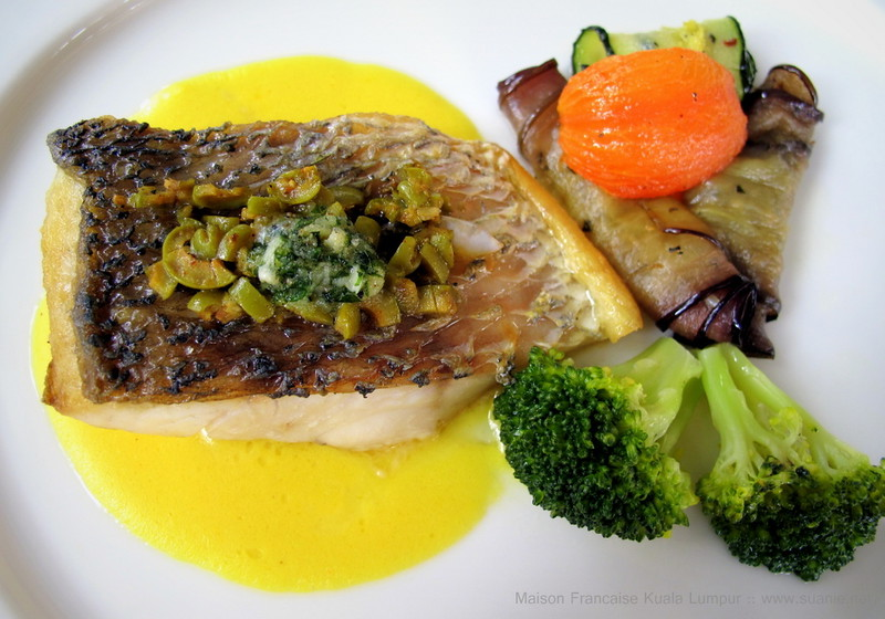Maison Francaise Kuala Lumpur - seared black sea bass
