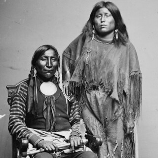 Häuptling Lone Wolf und seine Frau ...