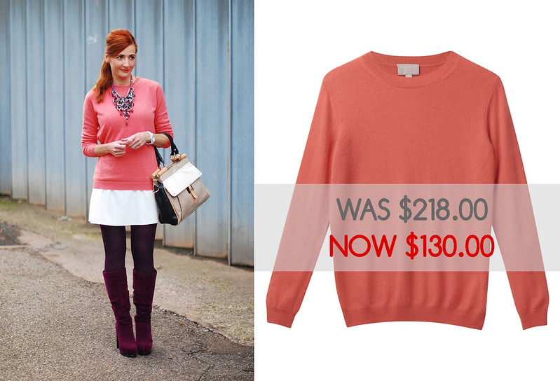 Pure Collection coral cashmere sweater - sale