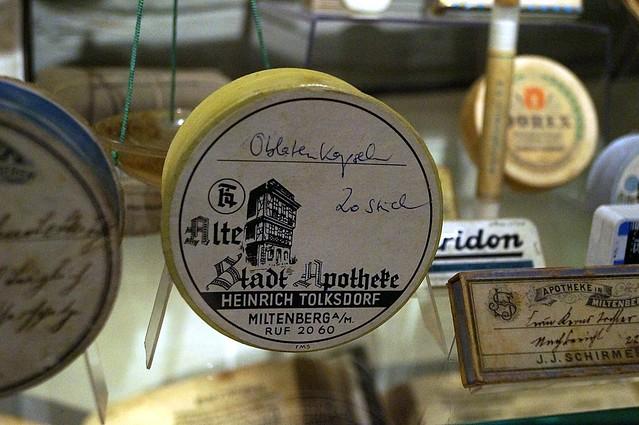 Stadtmuseum Miltenberg Oblatenkapseln