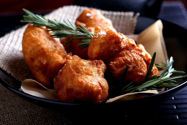 Sweet Potato and Rosemary Beignets