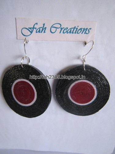 Handmade Jewelry - Paper Quilling Disk Earrings (4) by fah2305