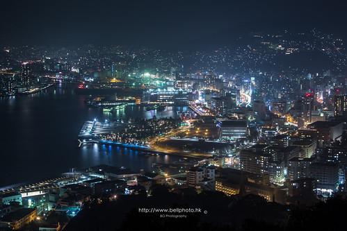 city light mountain japan night landscape hongkong lights neon cityscape harbour jp 日本 城市 夜景 metropolitan nagasaki kyushu 九州 2014 夜 長崎 長崎市 鍋冠山 nabekanmuri