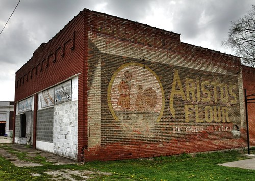 abandoned sign wall buildings town downtown decay district painted small ghost advertisement business missouri fading flour product galt grundycounty aristos