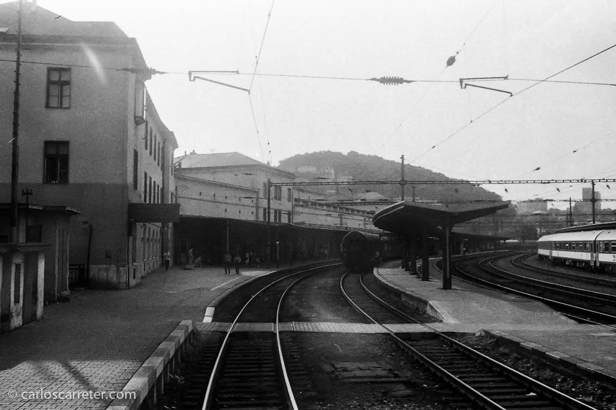 Abandonando la estación de Bratislava