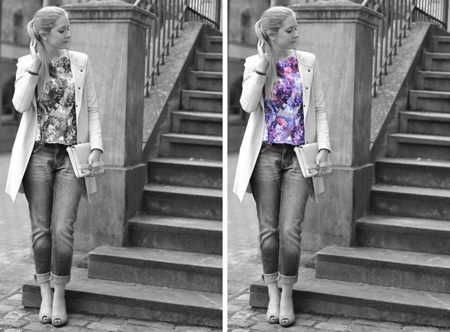 Outfit lila Blumen Lana del Ray s-w