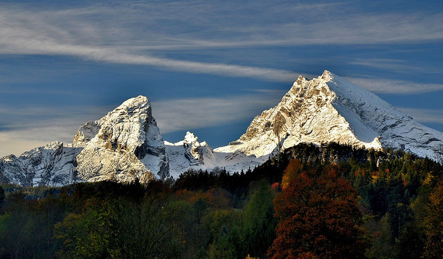 The Watzmann in October snow