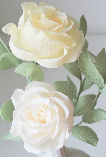 Crepe paper flowers blooms in the air mightylinksfo