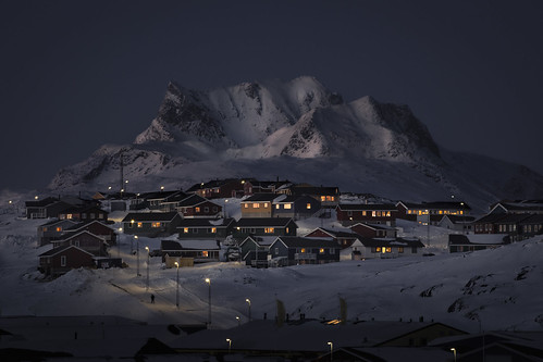 city winter sunset snow night cityscape nightscape capital arctic commercial greenland polar nuuk capitalregion 5dmarkiii sermersooq canon70200mmf28lisii bymadspihl urbangreenland colorfulnuuk colourfulnuuk limitedcommerciallicense begrænsetkommerciellicens arcticcapital