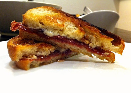 Grilled manchego sandwich with quince paste