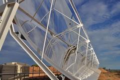 A condensed solar power array at Sundrop Farm