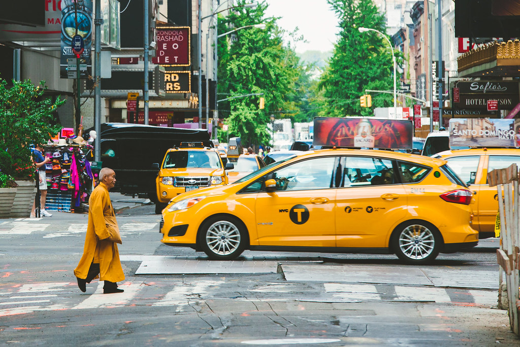 monk in new york city