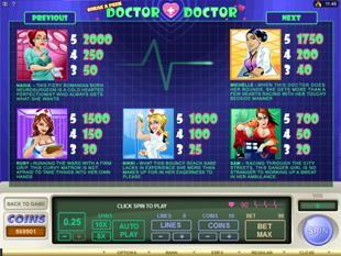 Sneak a Peek Doctor Doctor Slots Payout