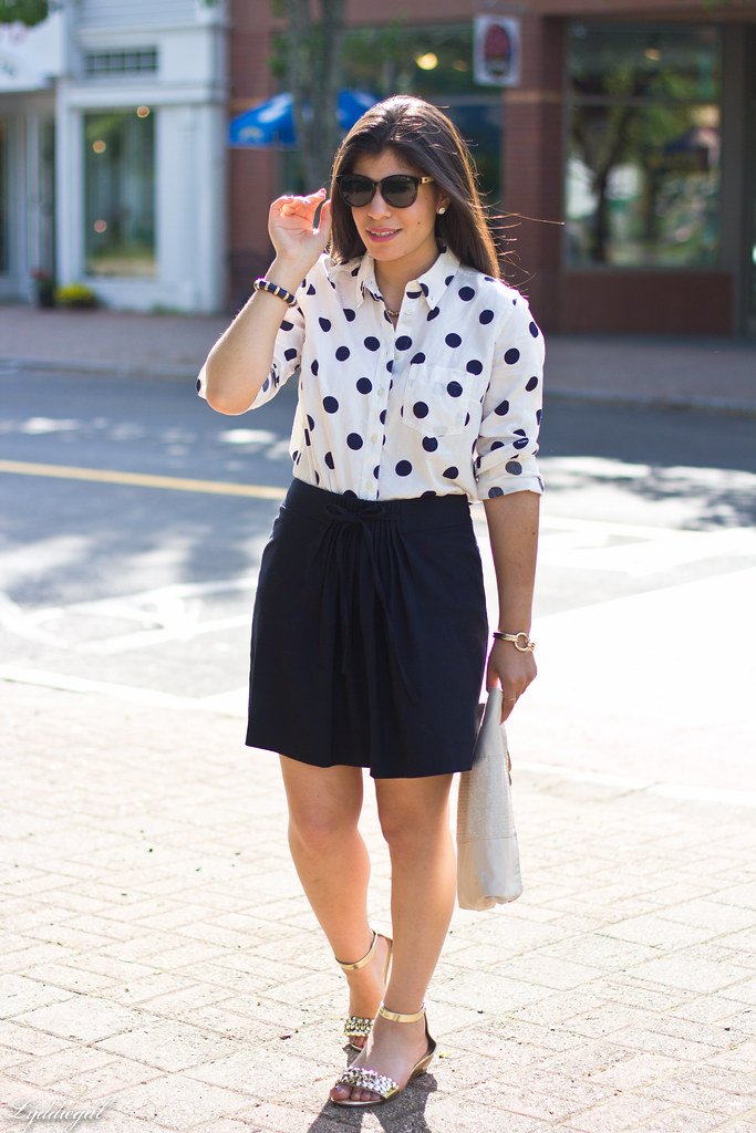polka dot blouse, navy skirt-2.jpg