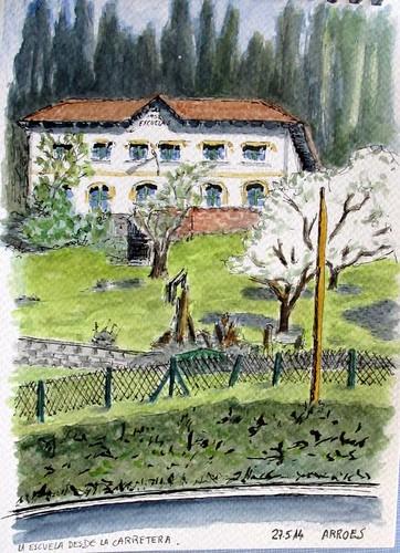 La Escuela. Arroes. Asturias (Spain)
