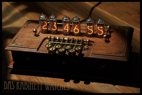 ~Timewriter~ Steampunk Nixie tube clock