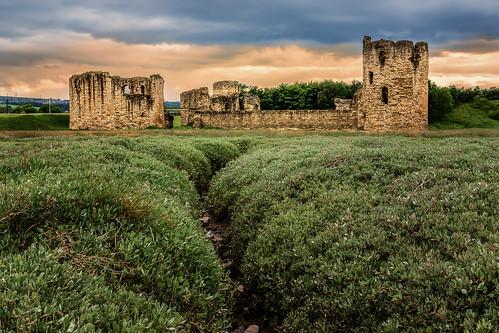 castle wales landscape flint fflint