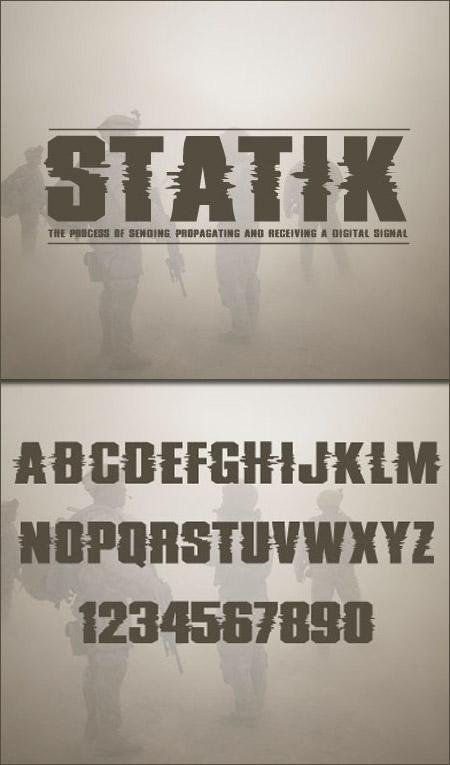 Шрифт Static для Фотошоп