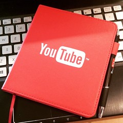 #YouTube #Swag at #Seattle office for a Creator Event near #Fremont in #WA #journal #notebook #Artist