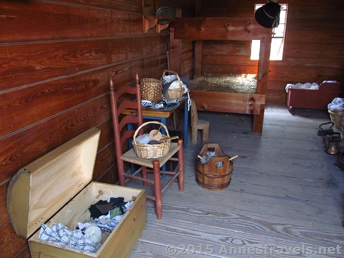 An officer's family's quarters at Fort Stanwix National Monument, New York
