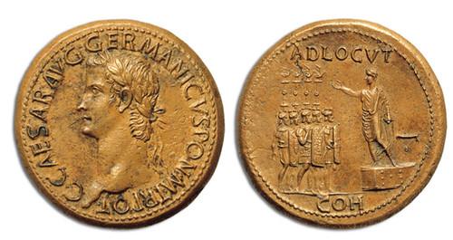 Caligula bronze sestertius
