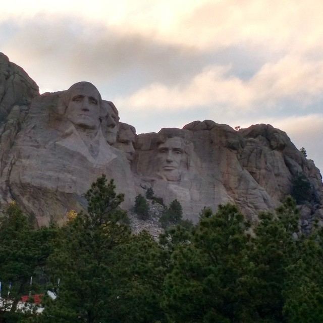 We made it! Well, to Mt. Rushmore anyway. #roadtrip2015 @lee_robertson80