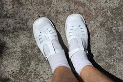 White Shoes and Socks - Outside