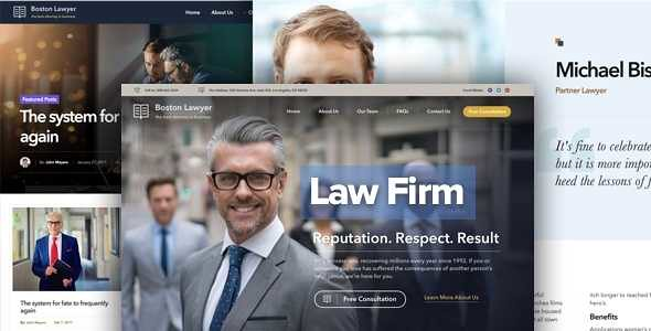 Lawyer WordPress Theme free download