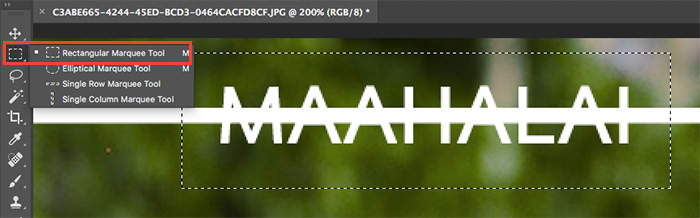 Photoshop Frame Text