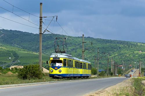 1014 1054 arad duewag düwag eb6 et6 gelenkbeiwagen gelenkwagen ghioroc linie11 rhb rheinhaardtbahn romania rumänien strasenbahn streetcar tram trambahn tramwai tramvai