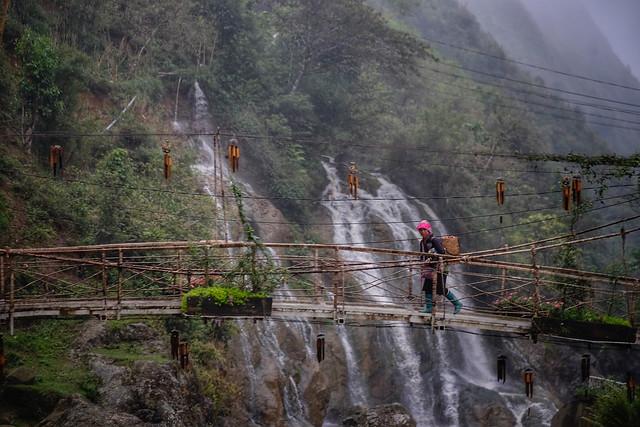 Bridge Cat Cat Waterfall
