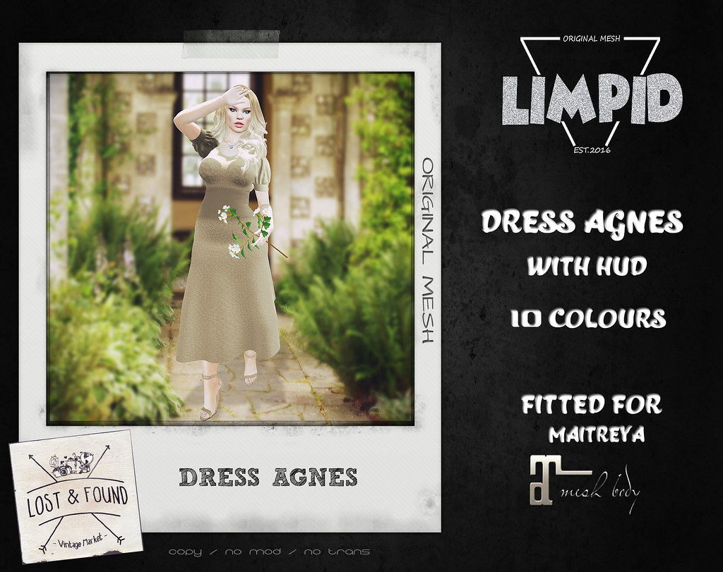 Limpid Dress Agnes [Exclusive Lost and Found] - SecondLifeHub.com