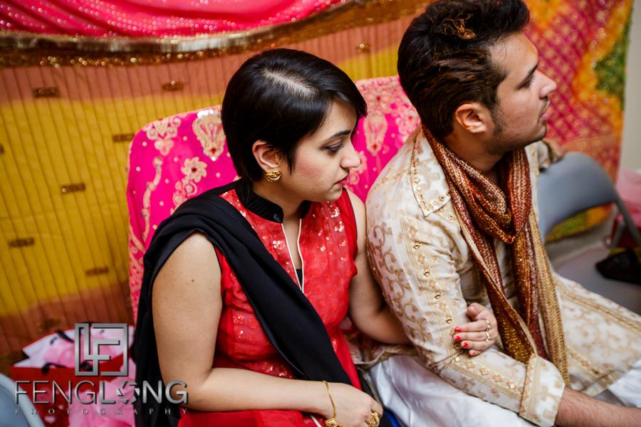 Groom and sister on Mehndi night