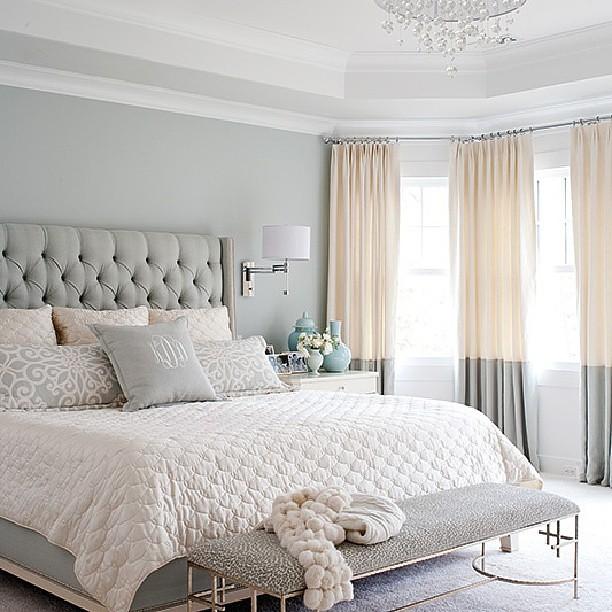 atlanta living bed bedroom bedding monogram peach grey white instagram interior. Black Bedroom Furniture Sets. Home Design Ideas