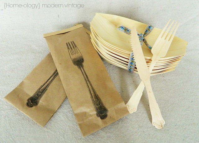 bamboo picnic utensils