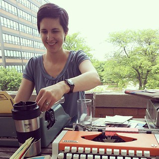 Typewriter party with my special lady. #showandmail