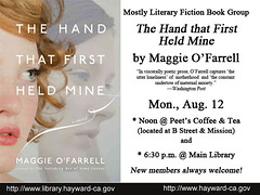 Mostly Literary Fiction Book Group Discussion of The Hand that First Held Mine by Maggie O'Farrell