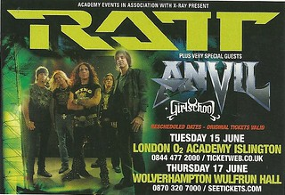 June 2010 Ratt/ Anvil/ Girlschool UK Dates