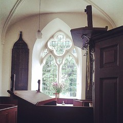 Morning Prayer in the tiny St Lawrence church Oldfield with Studley