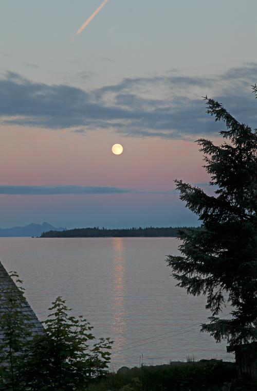 full moon at Kasaan, Alaska