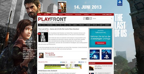 The last of Us PLAYFRONT
