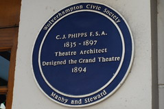 Photo of C. J. Phipps blue plaque
