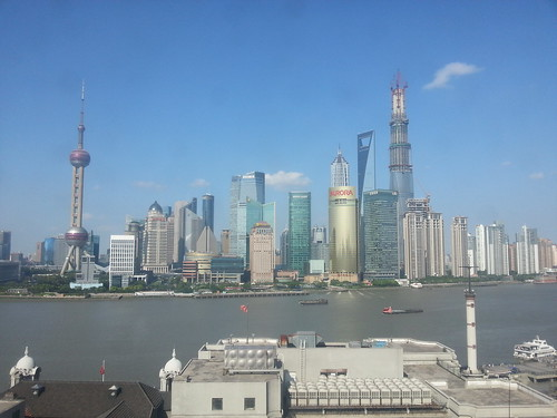 View from the SinoLending head office in Shanghai