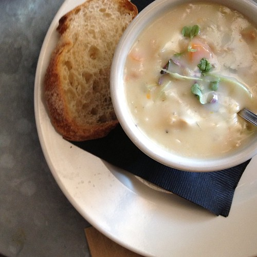 Friday soup is always clam chowder.