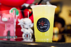 Lime kumquat drink, mmm