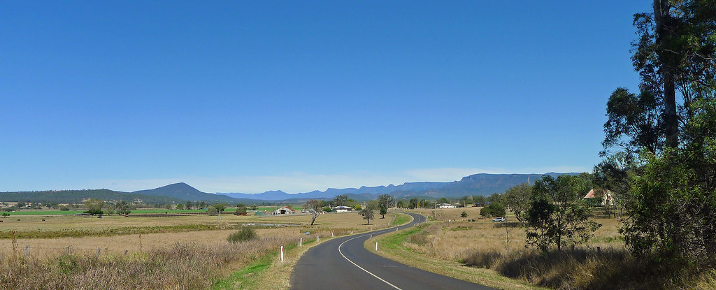 View towards Rosevale, Cunninghams Gap and the Main Range