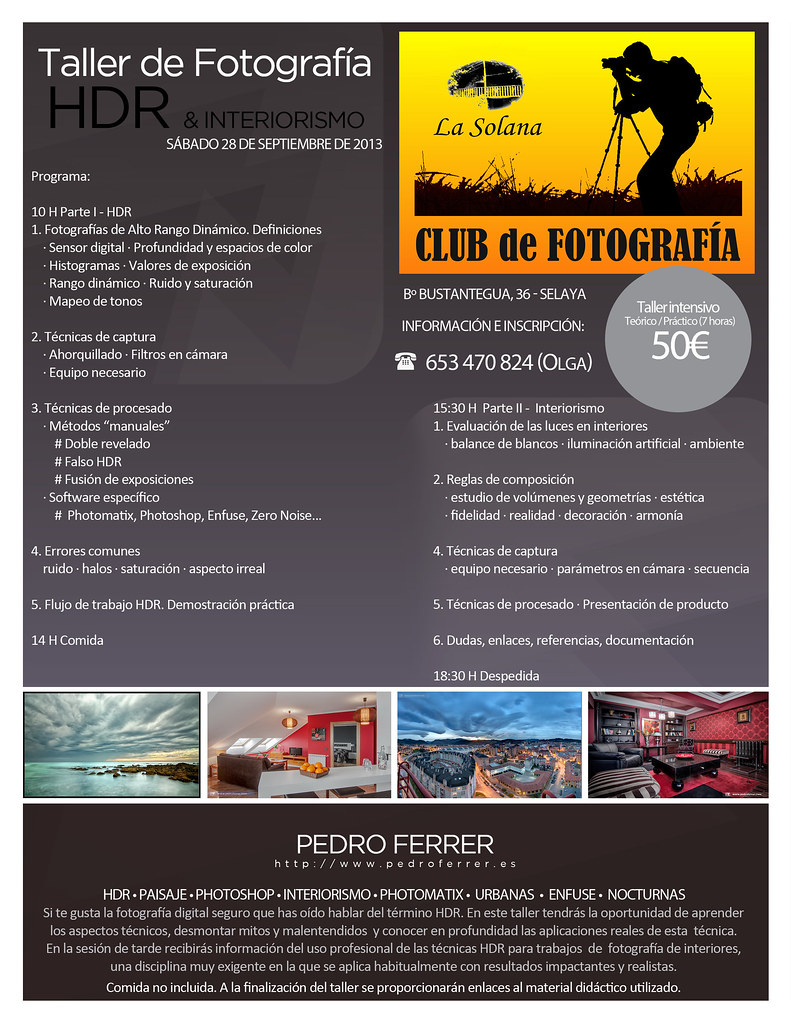 Taller HDR & Interiorismo - Club de Fotografía La Solana