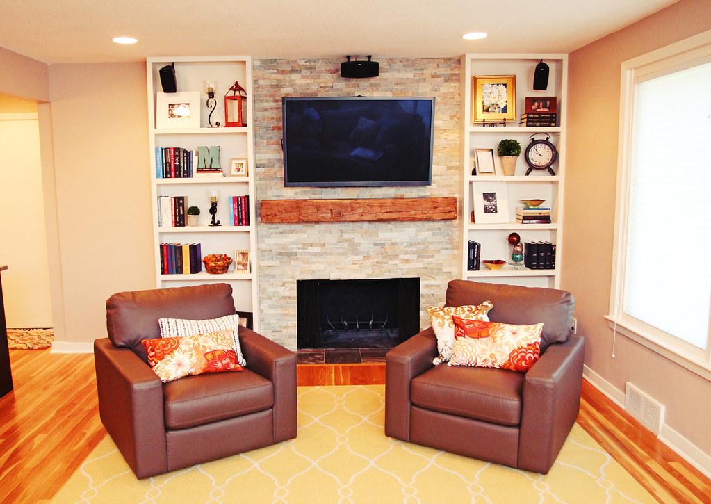 updated living room setup